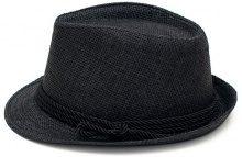 Cappello Fedora in paglia con nastro intrecciato