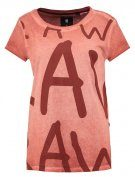 ETSIAN STRAIGHT R T  S/S - T-shirt con stampa - dark auburn