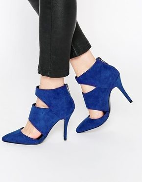 ALDO - Flemmings - Stivaletti con tacco e cut-out blu