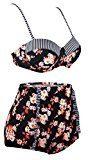 Angerella Vintage Floral di costume da bagno bikini set con cintola alta