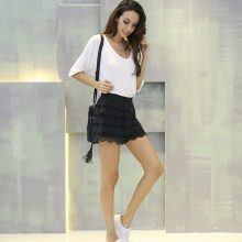 Shorts con pizzo