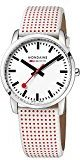 Mondaine Simply Elegant White Dial Ladies Red Polka Dot Leather Watch A400.30351.11SBA