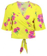 DELIA FLOWER TIE BACK  - T-shirt con stampa - yellow