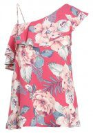 Hollister Co. SURFERS PARADISE  Camicetta red tropical