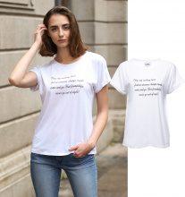 T-shirt con scritta romantica