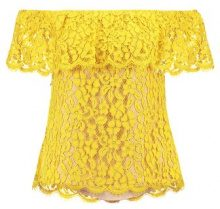 English Factory OFF SHOULDER Camicetta saffron