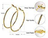 Orecchini cerchio donna gioielli di moda arrotondato in oro bianco placcato migliore regalo per le donne e le ragazze Borong
