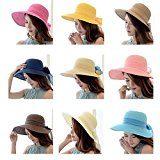 TININNA Donne Pieghevole Elegante Bowknot Protezione del sole spiaggia Cappello da sole di moda Cappello mare della spiaggia di estate