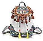 FIA MONETTI Signore tessuti di cotone borsa tracolla Shopper con raffinate decorazioni!