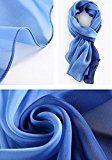 Sciarpa Seta 100% Delle Signore Elegante Grande Scialle Long Beach Sciarpe 70,8