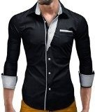 MT Styles BH-306 - Camicia slim fit - nero - L