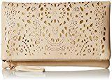 BMC da donna perforato oro tagliata Accent impuntura colore Fashion frizione borsa