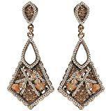 Bijoux pour tous fantasia, in metallo anticato Rocaille e resina, colore: marrone