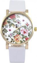 Orologio da polso di pelle a fiori