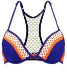 TWINTIP Bikini pezzo sopra orange/navy