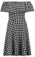 Dorothy Perkins GINGHAM BARDOT  Vestito di maglina black