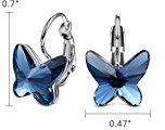 T400 Jewelers bianca Placcato oro gli orecchi Degli elementi di Swarovski Orecchini da donna Orecchini Donne a forma di farfalla