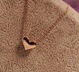Leyu della Rosa di modo placcato oro semplice Perline speciali cuore pendente della collana dei monili per le donne