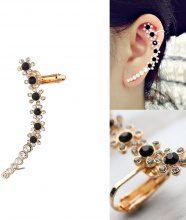 Ear-cuff con strass bicolori