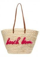 CREAM BEACH BUM SLOGAN BEACH - Shopping bag - white