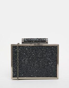Becksondergaard - Pochette squadrata nero glitter