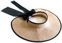 Cappello aperto di paglia con fiocco