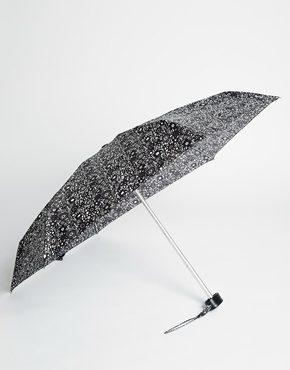 Fulton - Ombrello piccolo con stampa effetto pizzo