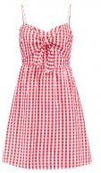 GINGHAM TIE FRONT  - Vestito estivo - red