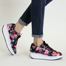 Sneakers fitness a fiori