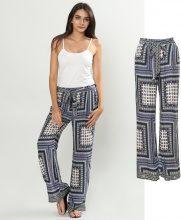 Pantaloni harem con stampa ornamentale