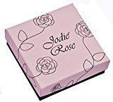 Jodie Rose-Braccialetto in pelle, con cristalli, lunghezza 22 cm