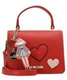 Love Moschino HEART PATCH  Borsa a tracolla rosso