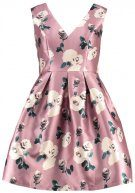 Chi Chi London Curvy WINNIE Vestito elegante pink