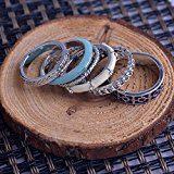 Lureme classici anelli a fascia di stile regolati per le ragazze e le donne (6 pezzi per set) 04000594