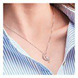 Wristchie Jewelry collana con ciondolo in argento Sterling S925 gatto sulla Luna