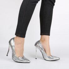 Scarpe con tacco a spillo glitter