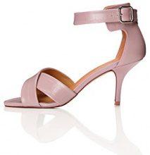 FIND Sandalo con Tacco Donna, Rosa (Pink), 37 EU