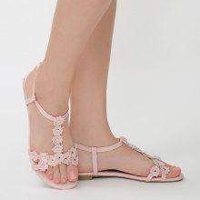 Sandali con cinturini floreali