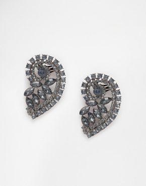 Monki - Orecchino ear cuff con gioielli