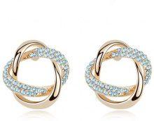 Orecchini ad anelli incurvati con Swarovski Elements