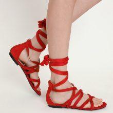 Sandali alla schiava con fascette incrociate