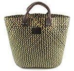 Ampia borsa di paglia naturale estiva per lo shopping, borsa mare, BOHO
