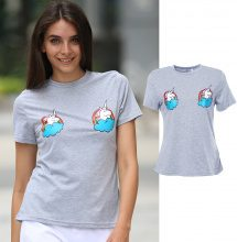 T-shirt con motivo a unicorno