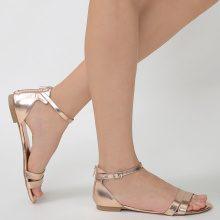Sandali metallizzati con zip