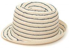 Cappello trilby di paglia a righe