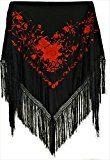 selecte-plus -  Scialle  - Donna nero rosso Taglia unica