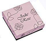 Jodie Rose-Bracciale con fiocco, placcati in oro, colore: nero, lunghezza 8,5 cm