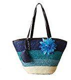 fairysan Donna Medium paglia borsa borsa cestino gradiente