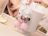 TreasureBay motivo: ametista, quarzo rosa, elegante, con peridoto e orecchini con perla d'acqua dolce