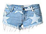 EASTDAMO -  Pantaloncini  - A stelle - Donna